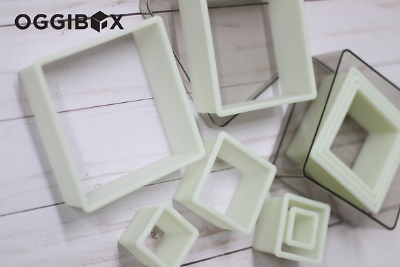 Oggibox 9pc Square Nylon Cutter Set