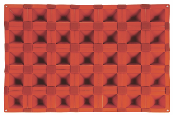 35-Cavity Pyramid Silicone Mold