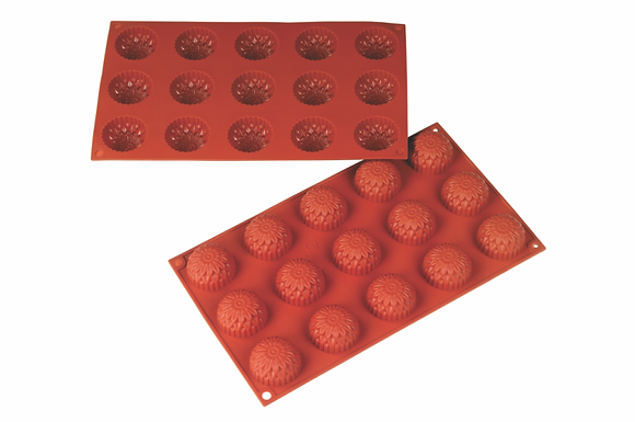15-Cavity Flower Silicone Mold