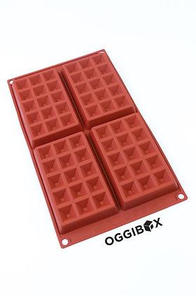 Oggibox 4-Cavity Waffle Silicone Mold