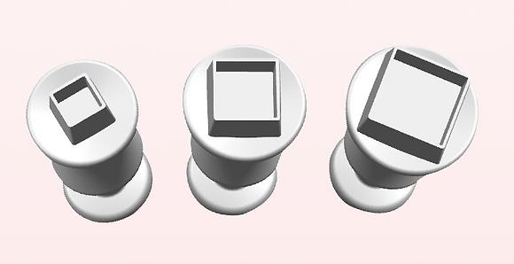 3-PC Square Plastic Cutter