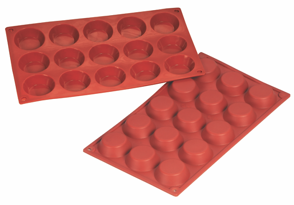 15-Cavity Round Silicone Mold