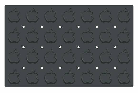 28-Cavity Apple Silicone Mold