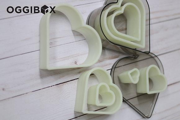 Oggibox 7pc Heart Nylon Cutter Set