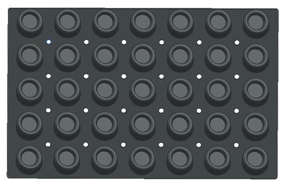 35-Cavity Round Silicone Mold