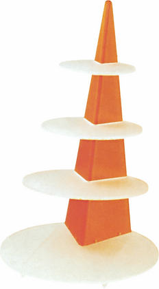 Triangular Stand with Circular Bases