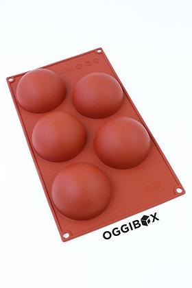 Oggibox 5-Cavity Half Sphere Silicone Mold