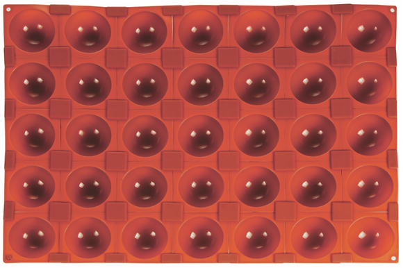 35-Cavity Half Sphere Silicone Mold