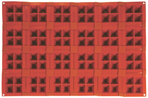 96-Cavity 4-Pyramid Silicone Mold