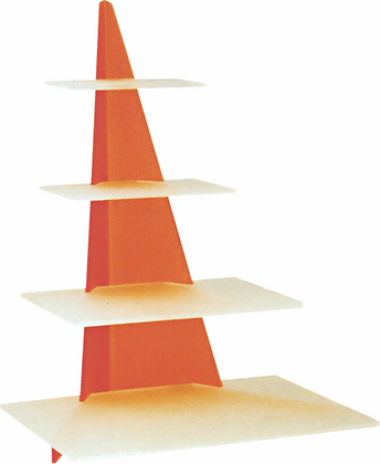 Triangular Stand with Rectangular Bases