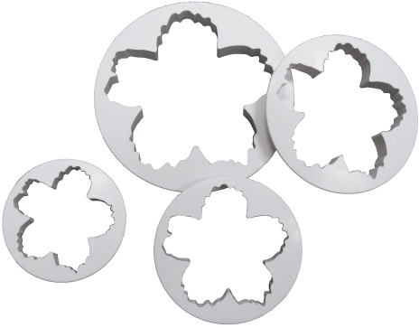 4-PC Star Flower Plastic Cutter