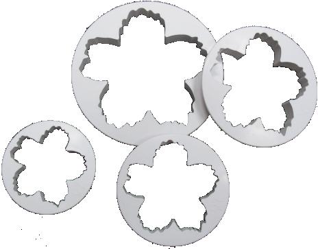 4-PC Star Flower Plastic Cutter