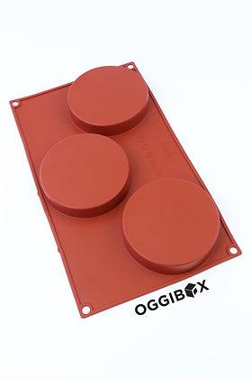 Oggibox 3-Cavity Round Disc Silicone Mold