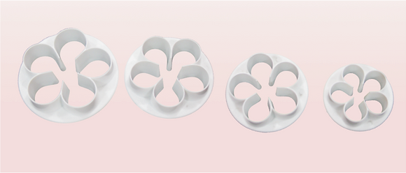 4-PC 5-PT Rounded Flower Plastic Cutter
