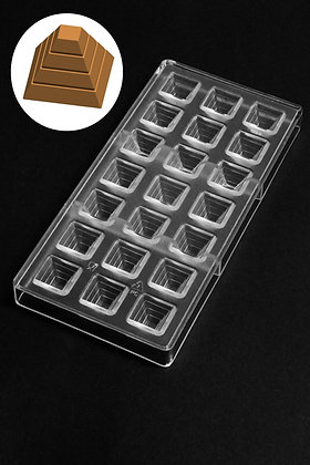 Oggibox Ancient Pyramid Polycarbonate Chocolate Mold, 21 -Piece Tray