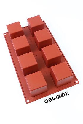 Oggibox 8-Cavity Square Cube Silicone Mold