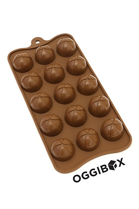 Oggibox 15 Cavity Pinwheel Half Sphere Chocolate Silicone Mold