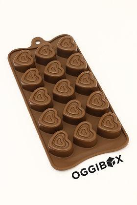 Oggibox 15 Cavity Pressed Heart Chocolate Silicone Mold