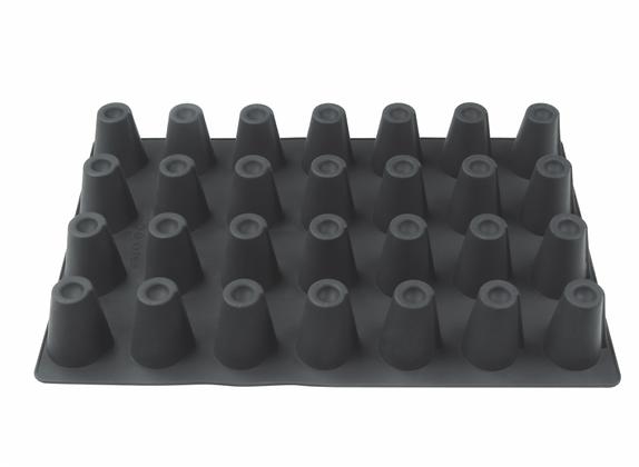 28-Cavity Cone Silicone Mold