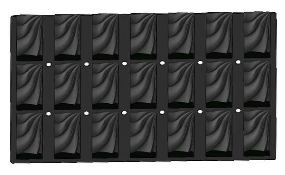 20-Cavity Rectangle Silicone Mold