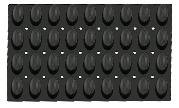 36-Cavity Oval Silicone Mold