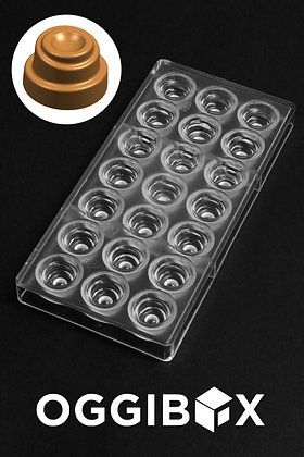 Oggibox Clear Polycarbonate Hypnotic Swirl Chocolate Jelly Candy Making Mold