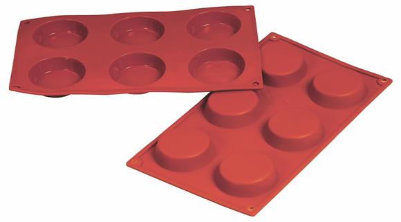6-Cavity Round Silicone Mold