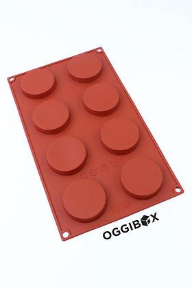 Oggibox 8-Cavity Flat Round Silicone Mold