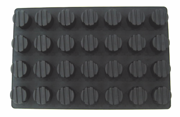 28-Cavity Round Silicone Mold