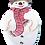 Thumbnail: 2-PC Snowman Plastic Cutter