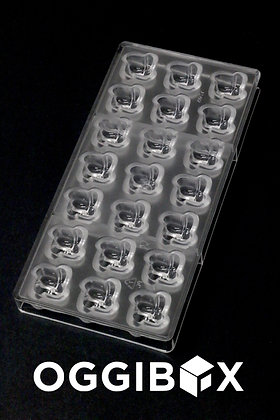 Oggibox 21-Cavity Polycarbonate Spiraling square Chocolate, Candy and Gummy Mold