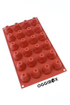 Oggibox 24-Cavity Mini Volcano Silicone Mold for Muffin, Cheesecake, Panna Cotta