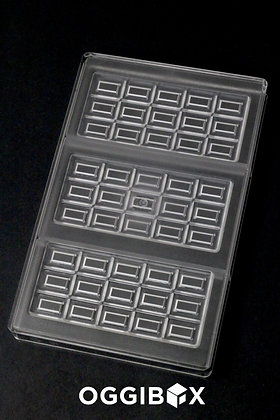 Oggibox Bar with 15-Rectangular-Piece Polycarbonate Candy Mold, 3-Bars Per Tray
