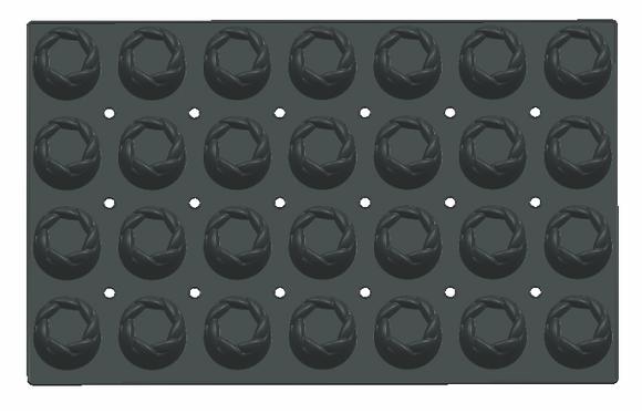 28-Cavity Round Silicone Mold