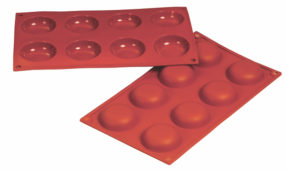 8-Cavity Round Silicone Mold