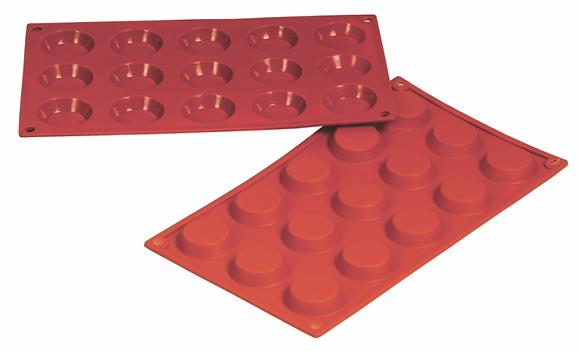 15-Cavity Round Silicone Mold