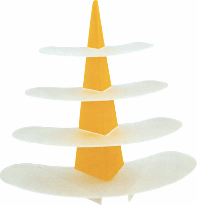 Triangular Stand with Oval Bases