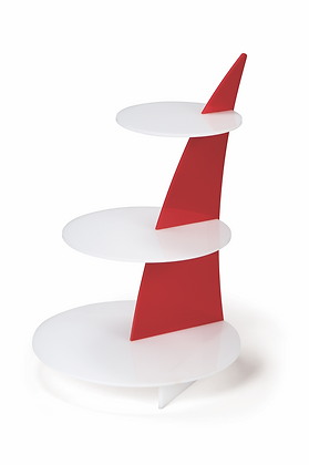 Fin Stand with Circular Bases