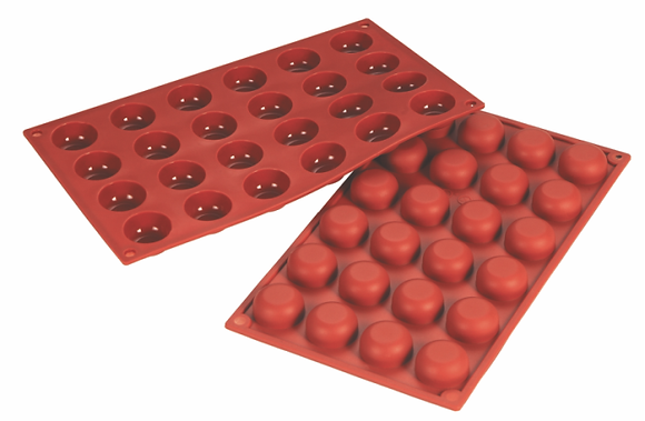 24-Cavity Round Silicone Mold