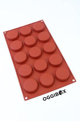 Oggibox 15-Cavity Flat Round Silicone Mold (p-44)