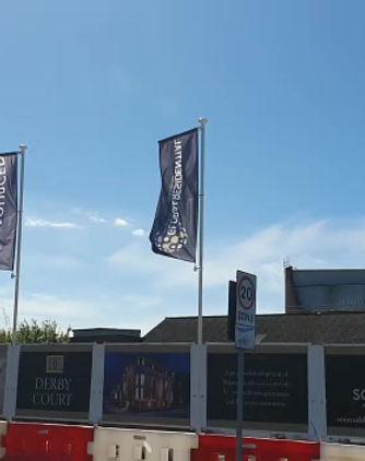 Site branding at Derby Court Liverpool