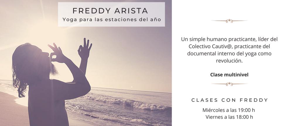 Yoga con Freddy Arista colectivo cautiva
