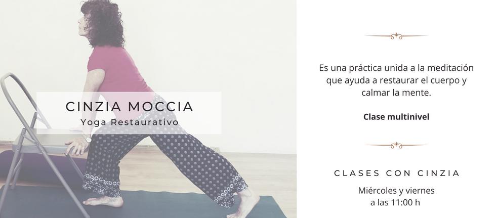 Yoga restaurativo con Cinzia Moccia Sukh