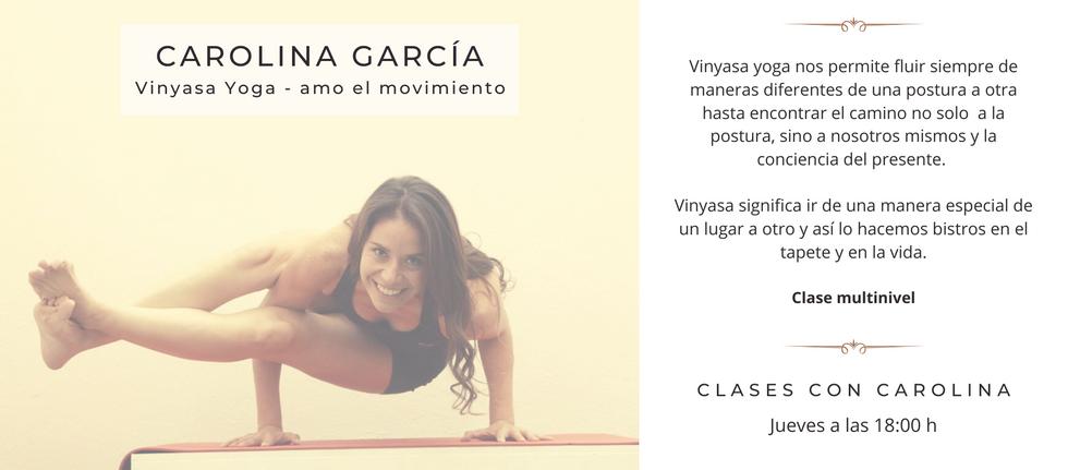 Yoga con Carolina Sukhavati yoga vinyasa