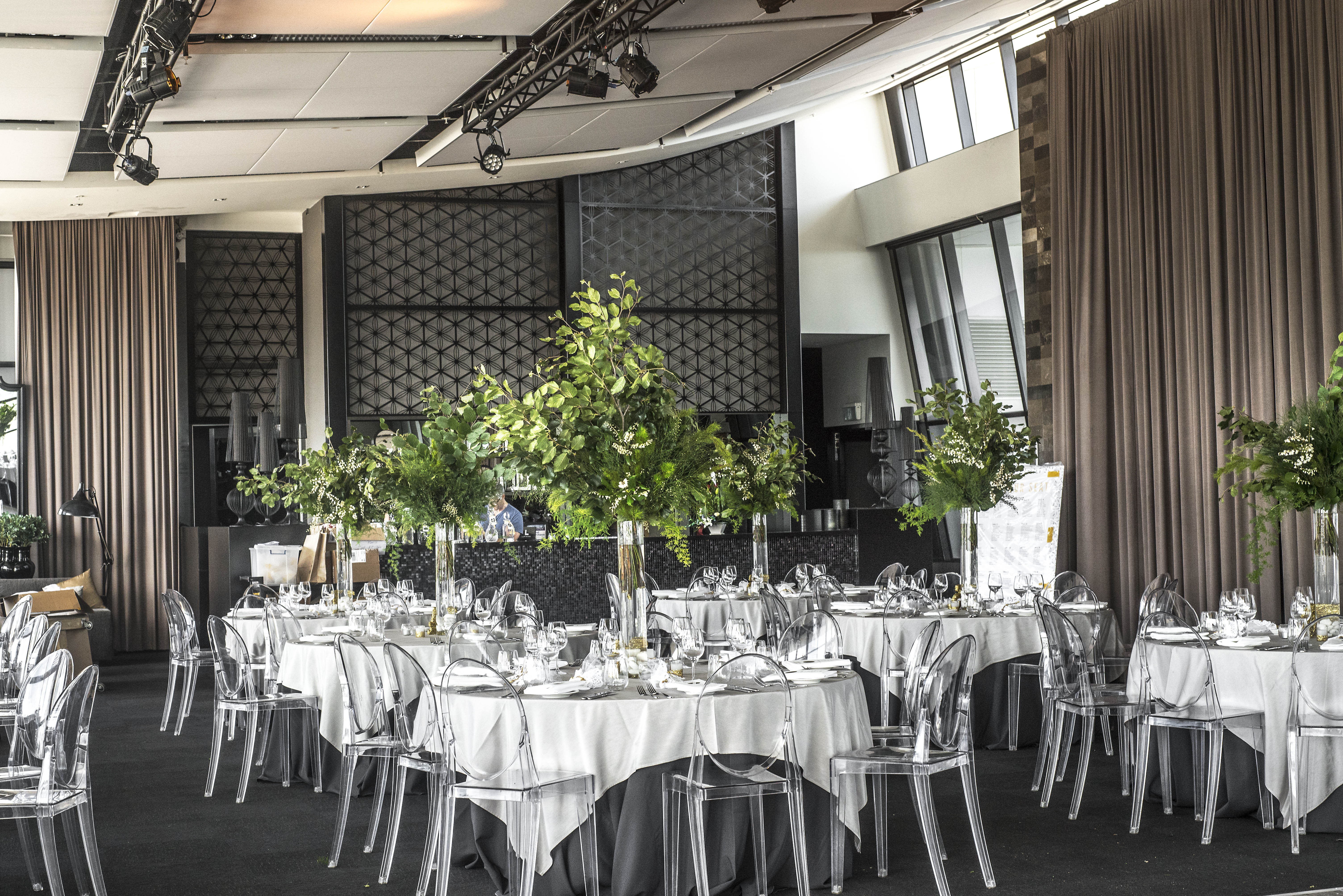 Tall foliage table centre pieces