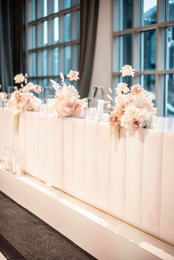 Preserved bridal table flowers