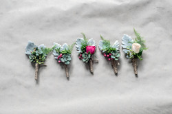 Succulent and foliage Buttoners