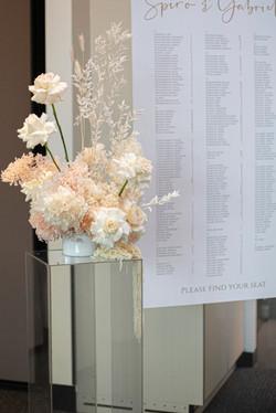 Fresh & dried flower feature arrangement