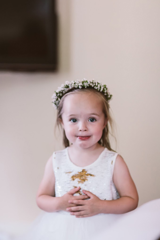 Wax flower, flower girl crown