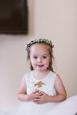 Wax flower, flower girl crown